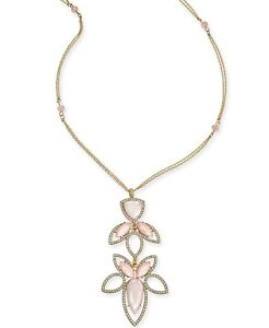 """I.N.C. Gold-Tone Stone and Crystal Pendant Necklace, 28"""" + 3"""" Extender"""
