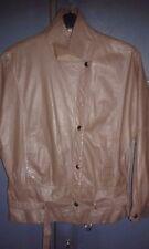 Vintage Ladies Korean Made Rare Retro Clip-on Soft Leather Biker Jacket - UK 12