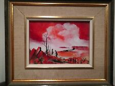 Les W. Hayward – A Meeting of Two Ancient Cultures – Framed Enamel Painting