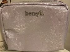 Benefit Lilac Purple Metallic Make Up Bag BRAND NEW