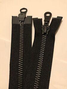 YKK 2WAY NO-5 BLACK OXIDISED METAL TEETH OPEN ENDED OPEN ENDED ZIP, 36 INCH 91CM