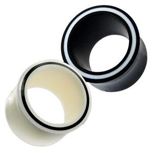 Horn Flesh Tunnel Bone Plug Hollow Eye Acrylic Piercing Stretcher Handmade