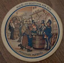 Vintage Collectible MÜNCHNER HOFBRÄU Cardboard Coaster COLLECTIBLE
