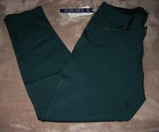 Seven 7 Womens Faux Leather Trim Evergreen Skinny Pants-Size 8-MSRP $64-NWT