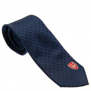 Arsenal Football Club Official Embroidered Navy Tie Crest Badge Neck Work Fan