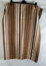 "Vintage Retro 60's 70's Brown Striped Curtains - 60"" x 39"""