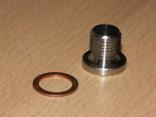 M12 x 1.25mm Stainless Steel O2 Oxygen Lambda Sensor Blanking Bolt Bung Plug