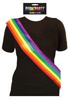 Gay Pride Sash Lesbian LGBT March Freedom Rainbow Celebration Hen Stag Night