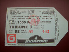TICKET ANDERLECHT  - KV MECHELEN 9/11/1988 C2