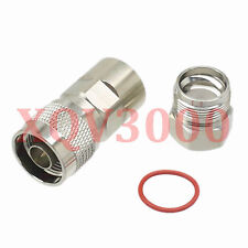 """1pce Connector N male plug pin clamp for 1/2"""" superflexible cable RF COAXIAL"""