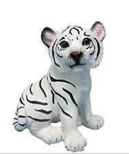 Realistic Effect Cute Small White Tiger Cub Statue Figurine Ornament Gifts