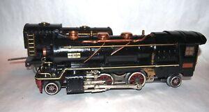 "Lionel Prewar O Gauge Big 260E ""Cream Stripe"" Steam Locomotive & Tender! 1930!"