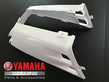 OEM Yamaha Banshee YFZ350 gas tank side panels plastic fenders covers WHITE