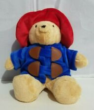 "Rainbow Designs Plush Paddington Bear Stuffed Bean Bag Red Coat Blue Hat 9"" 2002"