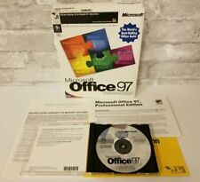 Microsoft Office 97 Suite Professional Edition Intel MMX Windows 95 NT Software