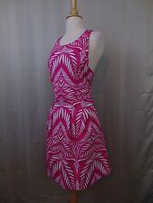INC Petite Palm-Print Sleeveless Cutout Scuba Fit & Flare Dress PL Large #2481