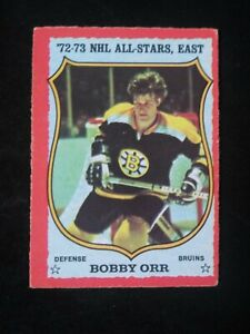 1973 Bobby Orr (OPE) #30 Nice, clean older card. No creasing. see comments