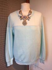 H & M Mint Sweatshirt Top With See Through Detail Medium