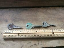 Lot Of Three Keys, Shabby , Antique Rustic Key, Max Frankwel, Hurd