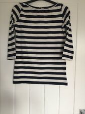 BNWOT La Redoute Striped Frill Sleeve Blouse Top S UK 8 10