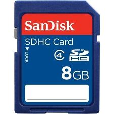 SanDisk 8gb SD SDHC Standard Class 4 Secure Digital Camera Memory Card Retail 8g