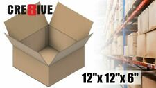 25 Corrugated Multi Depth Boxes 12x12x6 Shipping 32 ECT Packaging Kraft 50 75