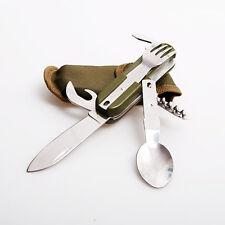 Multifunction Tableware Utensils Knife Fork Spoon Blade Camping Travel Tool