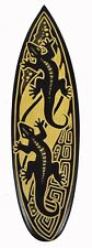 "20"" Hand Carved Wood Tiki Gecko Lizard Surf Board Sign Bar Pool Tropical Island"