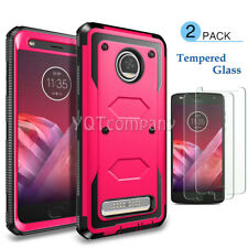 Motorola Moto Z2 Play / Force Shockproof Hybrid Hard Soft Slim Phone Case Cover