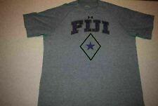 Team Fiji Under Armour #18 t shirt Gray Heat Gear Men's Large