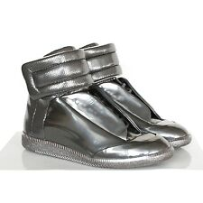 MAISON MARTIN MARGIELA gunmetal silver shoes hi-top Future sneakers 40 / 7 NEW