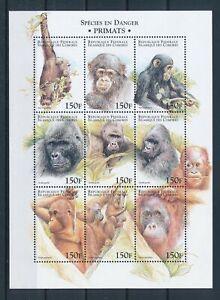 [G391105] Comoros 1999 monkey good very fine MNH sheet