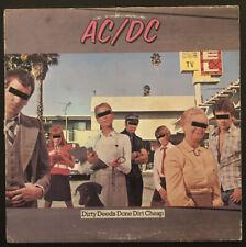 AC/DC Dirty Deeds Done Dirt Cheap Album LP 1981 SD 16033 - VG+ Vinyl ANGUS YOUNG
