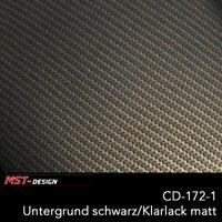 Wassertransferdruck Folie Starterset WTD Carbon gold CD-172-1 4m x 60cm Hydro