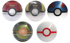 Pokemon Pokeball Cartas Coleccionables Caja de Lata Chapa Pokéball Boosterpack