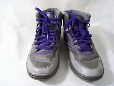 huge discount cf5a8 8f62d Nike Sky Force Gray Purple Stealth Basketball 454452 005 Size 9.5