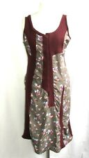 COTELAC DRESS FITTINGS WOOL BORDEAUX & PATTERNS FLORAL T 3 = 40 EXCELLENT