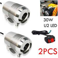 2x CREE U2 30W Motorcycle LED Driving Headlight Fog Spot Light For BMW & Switch