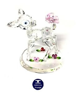 """[SPECIAL OFFER]""""Little Fawn & Butterfly"""" Austrian Crystal Figurine was AU$153.00"""