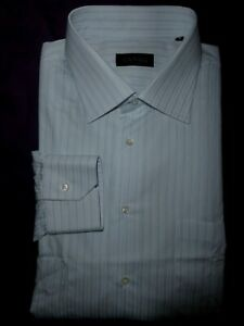"""Canali Italy Long Sleeved Shirt 18/46."""" 28"""" Excellent"""