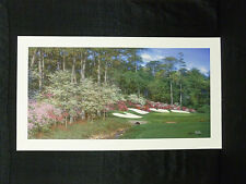 Larry Dyke Signed Along Rae's Creek Augusta Masters Tournament Golf Lithograph