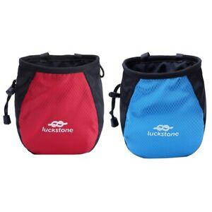 Chalk Bag Outdoor Rock Climbing Gym  Waterproof Polyester Powder Pouch Sports UK