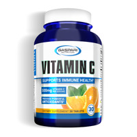 Gaspari Vitamin C 500mg - 1000mg 30 Tablets 30 Serving Pharmaceutical Grade USA