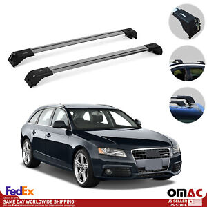 Fits Audi A4 Avant Wagon 2009-2016 Roof Rack Cross Bars Luggage Carrier Silver