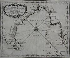 CARTE DU GOLPHE DE BENGALE , BELLIN , 1740