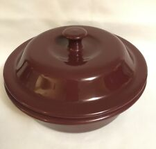 """Pampered Chef 9"""" Round Covered Baker Cranberry 1151 6 Cup 1.5 Liter"""