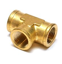 1/2 NPT Female Pipe Tee Brass Fitting Equal Fuel Air Water Oil Gas FasParts