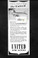 UNITED AIR LINES 1941 DC-3 MAINLINERS FROM SFO & LAX TO EAST-NORTH-SOUTH AD