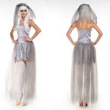 Costume Ghost Zombie Bride Vampire Hen party Cosplay Halloween Dress Fancy  ^