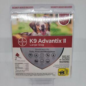 K9 Advantix II Flea Tick Mosquito Prevention for Large Dogs 21 55 lbs 2 Dose NEW